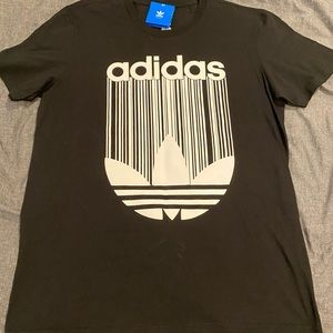 Adidas Black and White T-Shirt